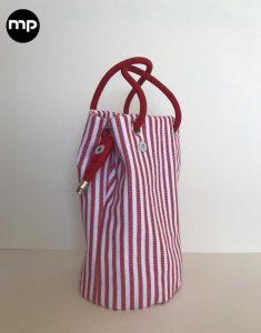 bolso de rayas