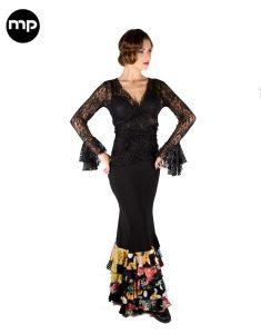 falda flamenco negra