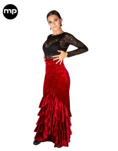 falda flamenca roja