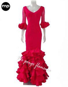 traje de flamenca rojo