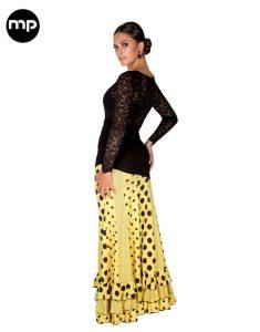 falda flamenca amarilla